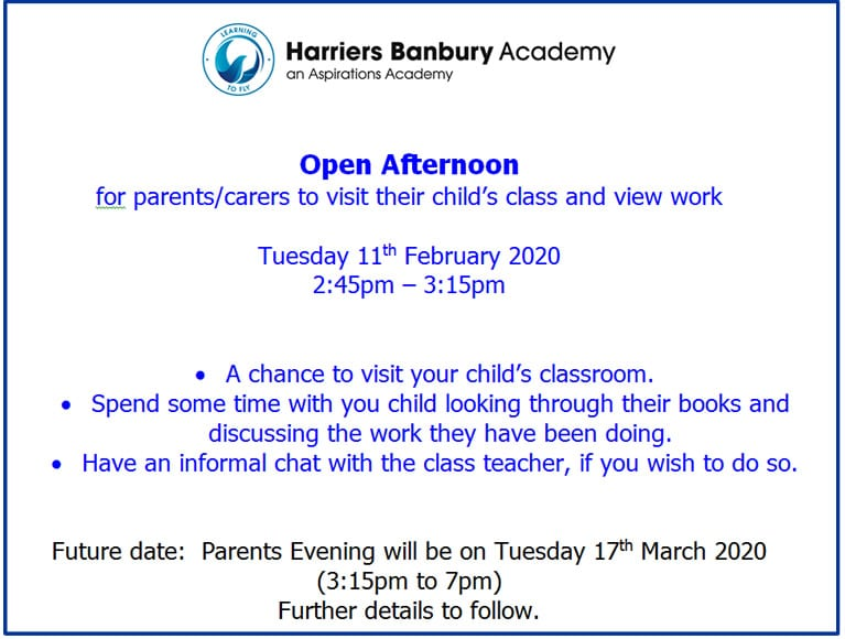 Open Afternoon poster