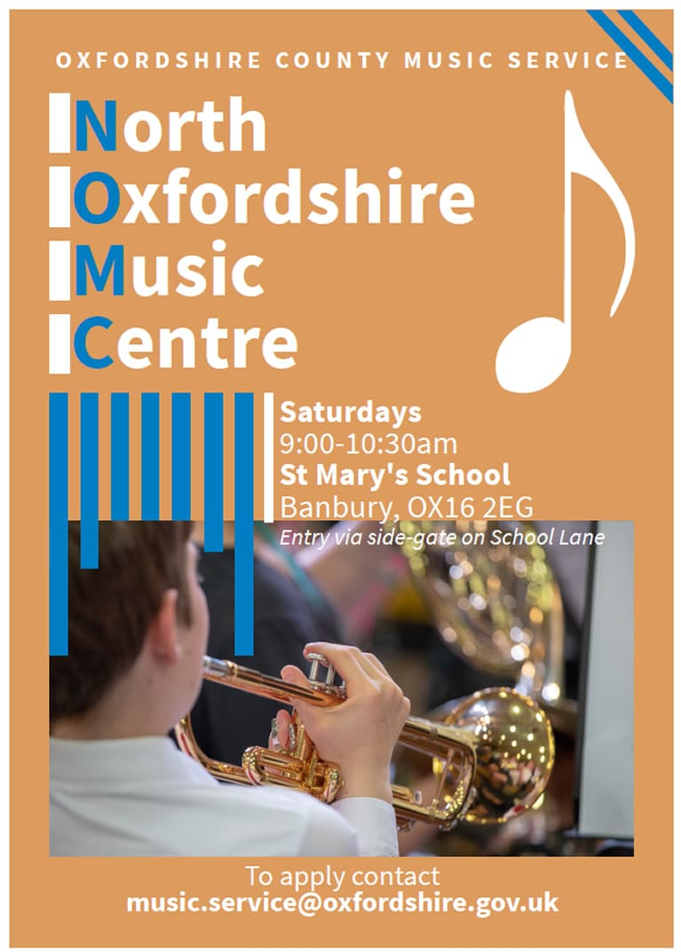 Oxfordshire Music Service poster