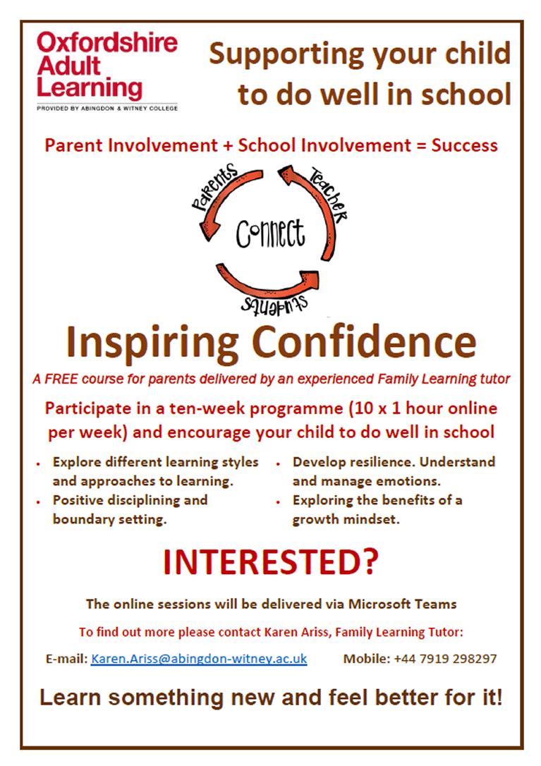Inspiring Confidence poster