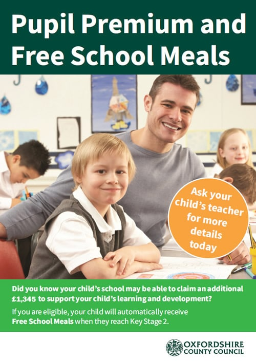 Pupil Premium and Free school meals poster