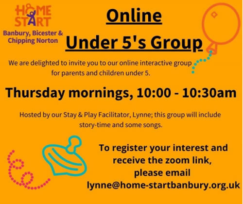 Homestart online group poster