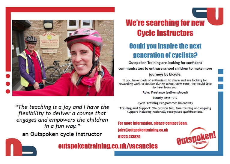 Bikeability Trainers poster