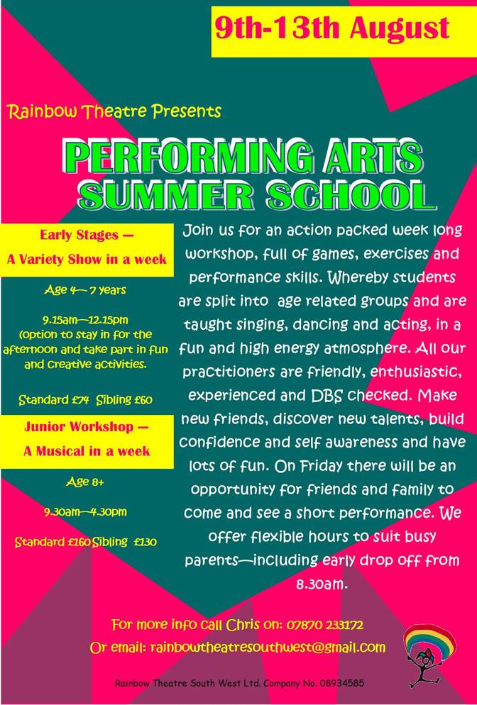 Rainbow Theatre Summer School 2021