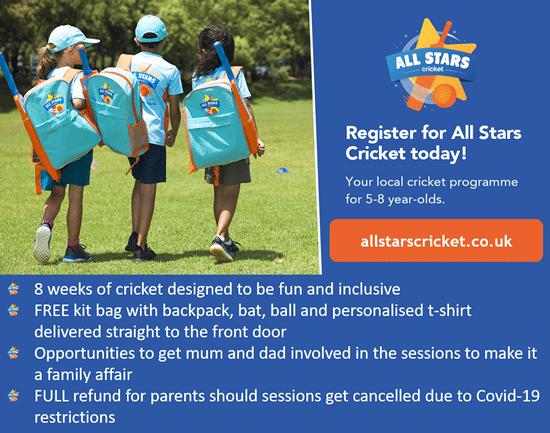 All Stars Cricket - School Advert