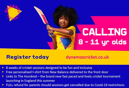 Dynamos Cricket - School Advert