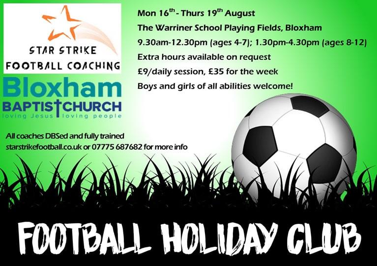 Football Holiday Club poster