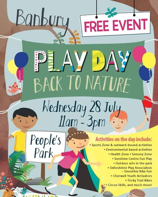 People's Park Play day poster