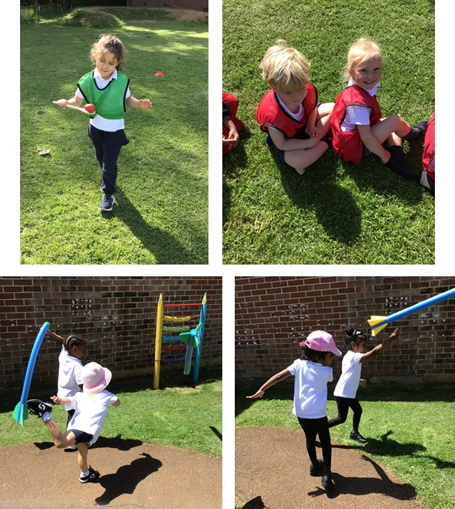 Practicing for Sports Day