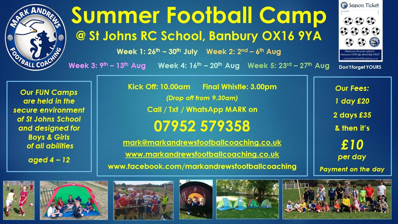 Summer Football Camp poster