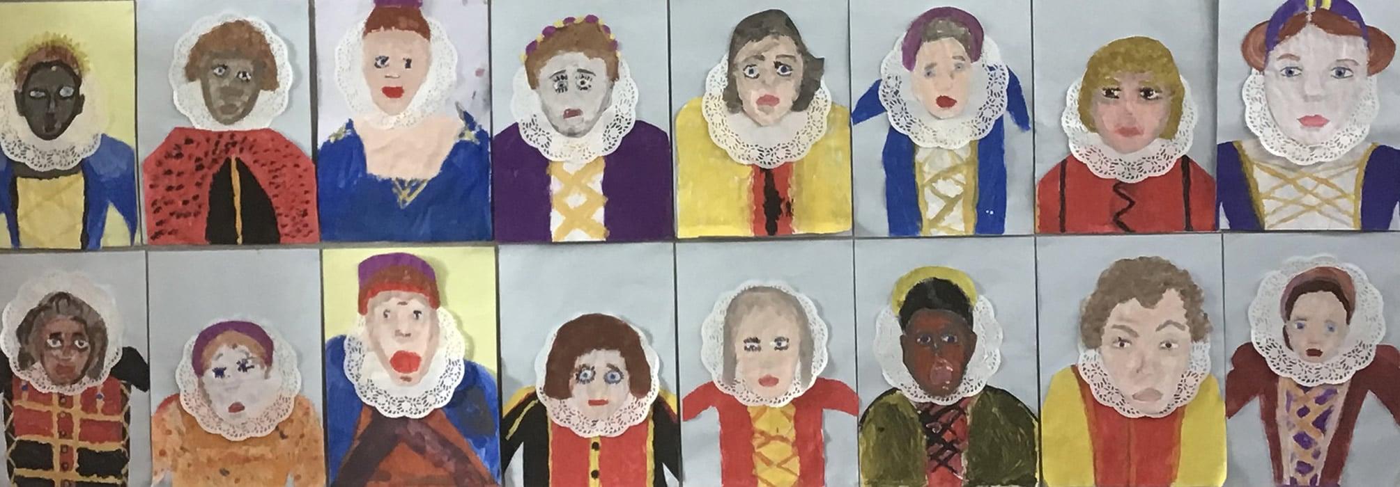 Elizabethan Costumes paintings