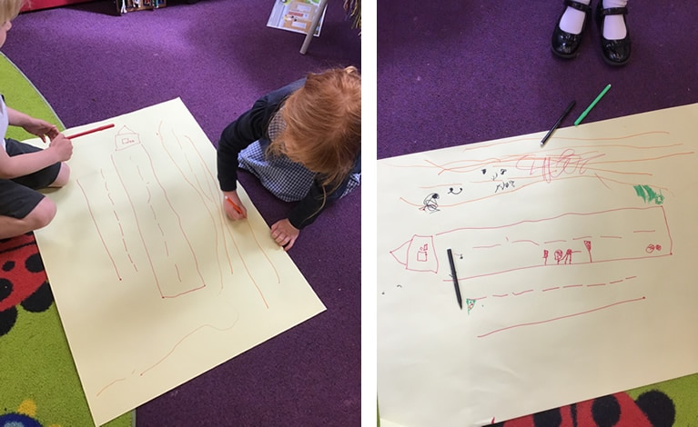 Road safety drawings