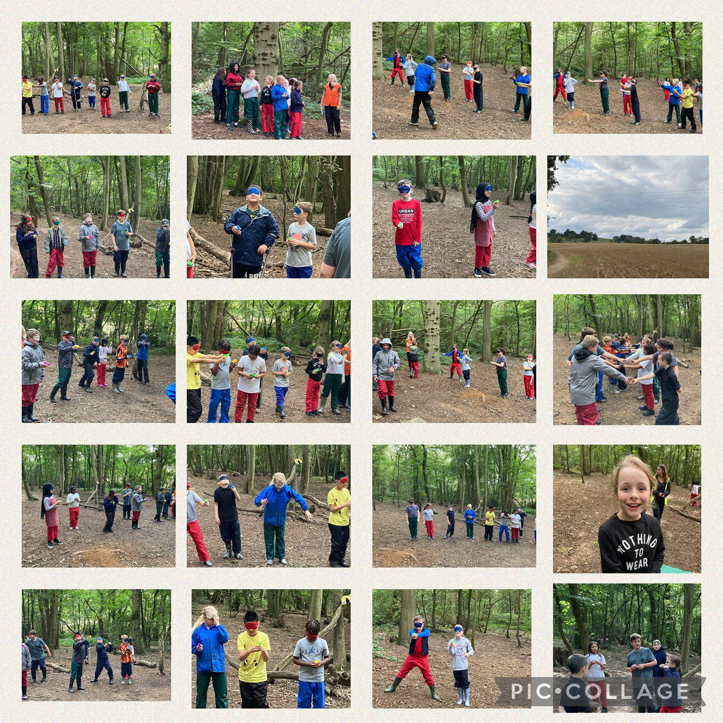 Year 6 residential Everdon Woods games