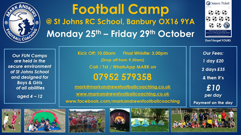 Football Camp poster