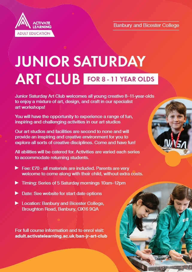 Junior Art Club poster